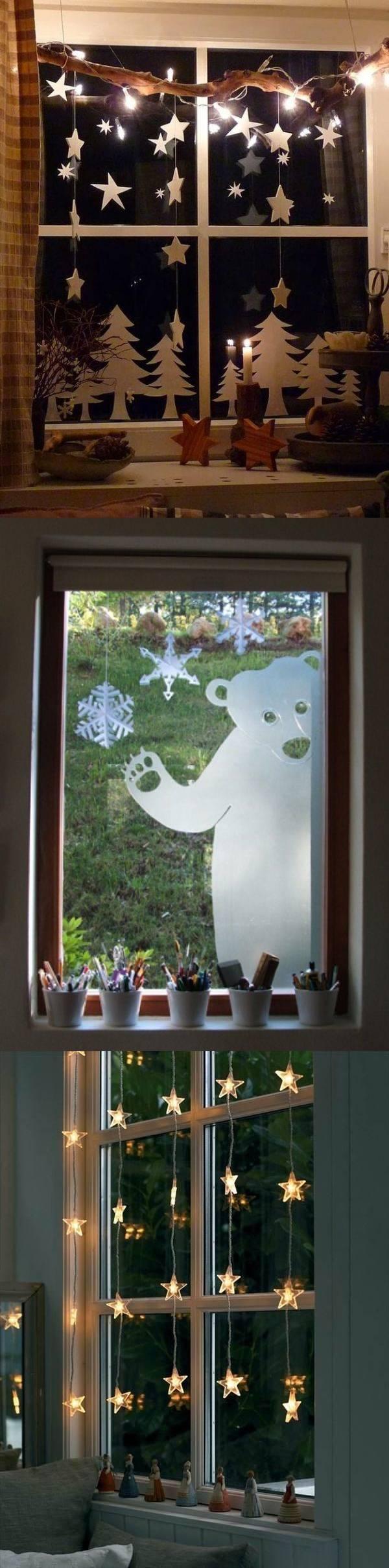 Как украсить окно на Новый год - 15 идей
