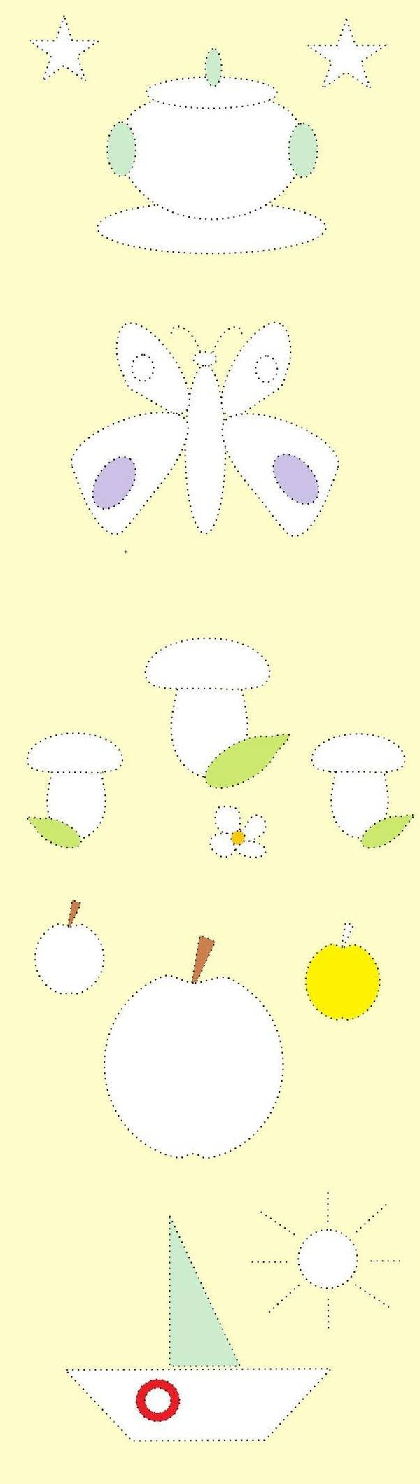 33 простых рисунка по точкам
