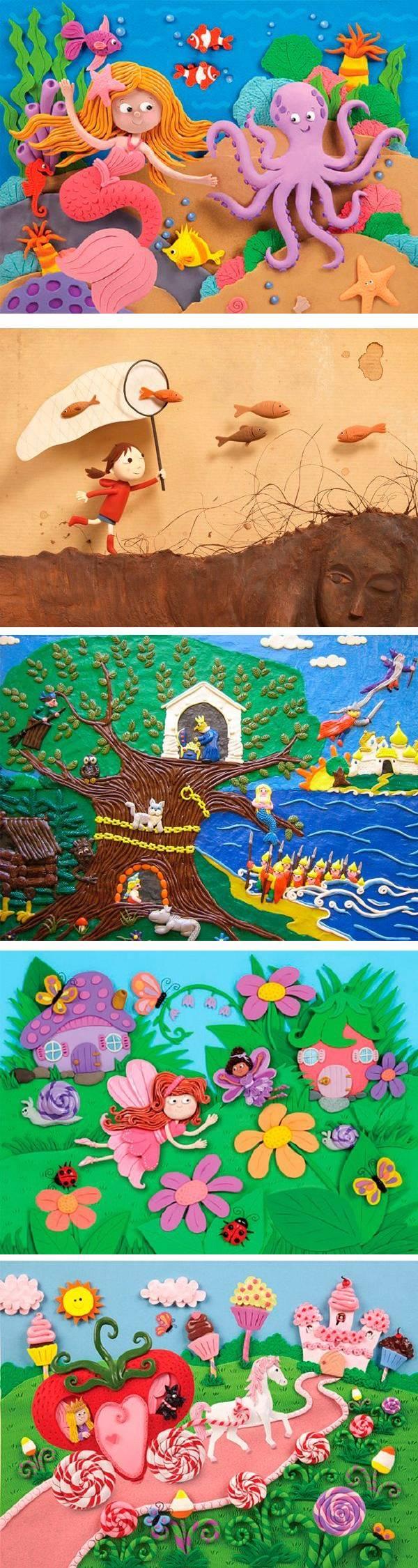 Креативные картины из пластилина — 25 идей
