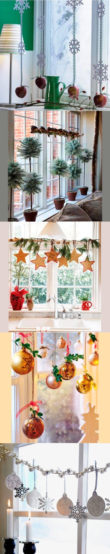 16 вариантов украшения окон к Новому году