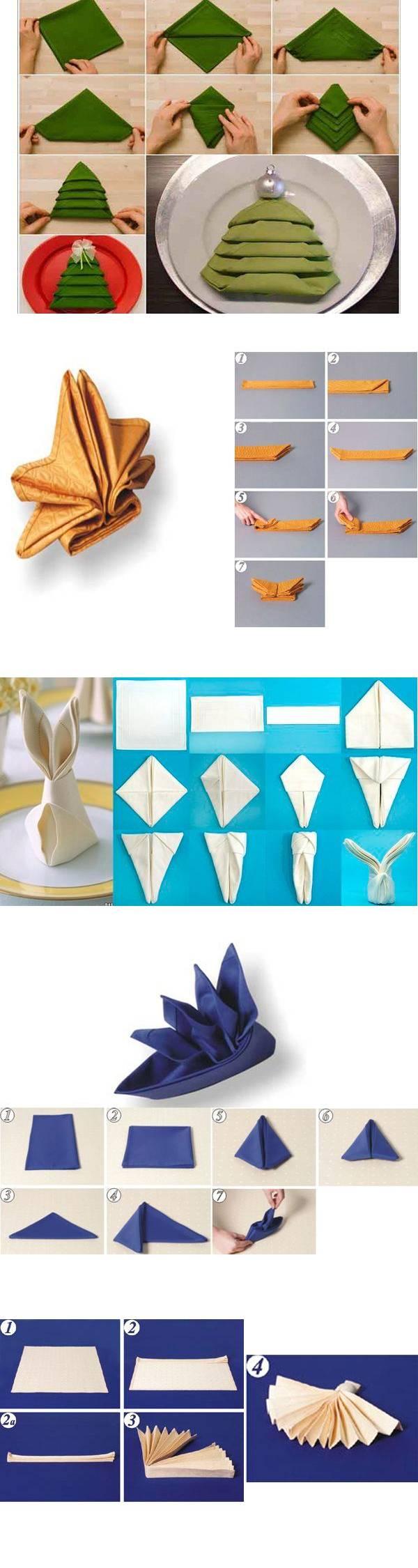 17 вариантов оформления салфеток