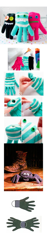 6 идей игрушек из перчаток