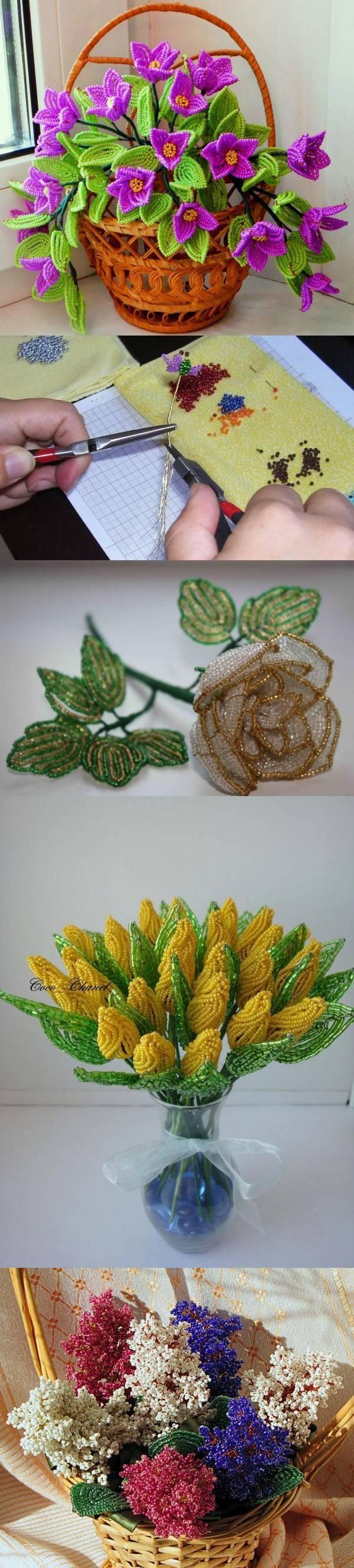 Бисероплетение: схемы. Цветы