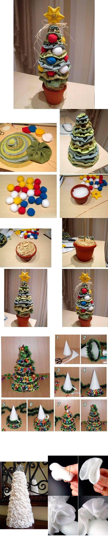 Декоративные елки своими руками