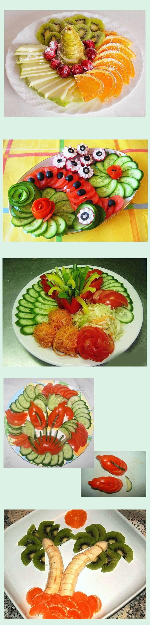 Интересные идеи подачи овощных и фруктовых нарезок
