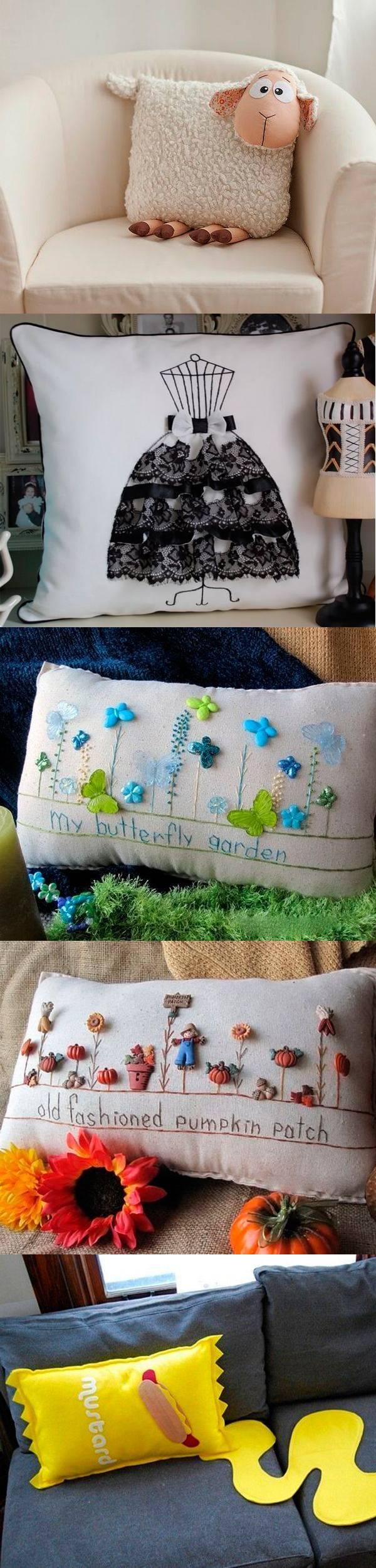 Оригинальные текстильные подушки — 30 идей