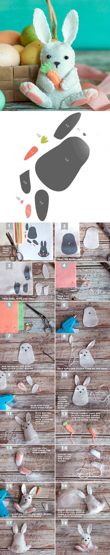 Пасхальные поделки из фетра — 4 мастер-класса