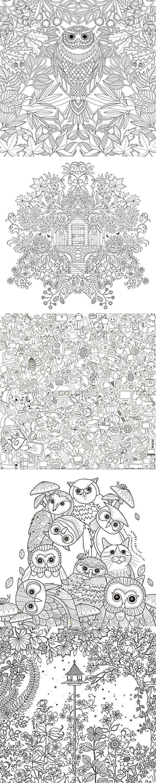 Раскраски-антистресс. 30 замечательных картинок