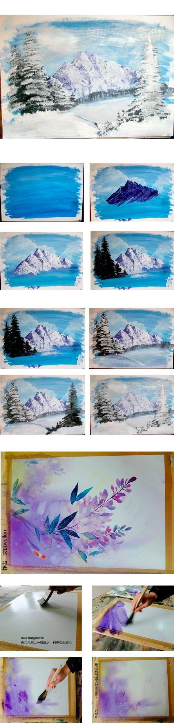 Рисуем красками - 5 мастер-классов