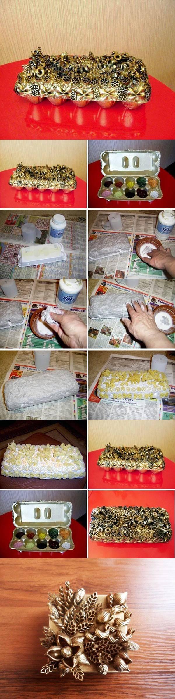 Шкатулка из макарон своими руками для начинающих