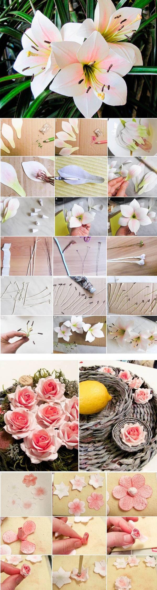 Цветы из бумаги — 5 мастер-классов
