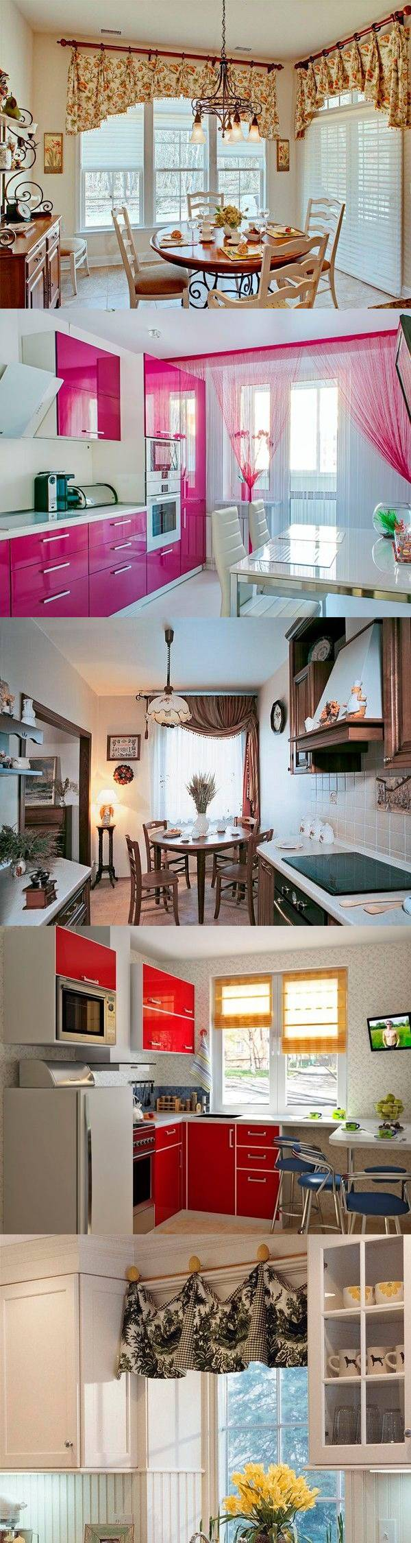 25 идей оформления окна на кухне