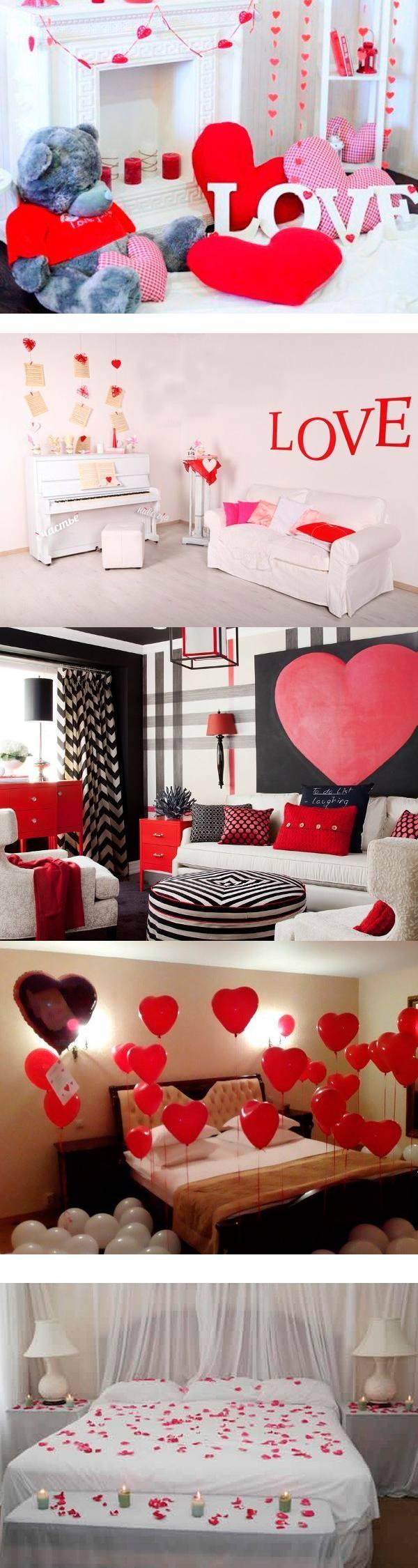 26 вариантов оформления интерьера на День Валентина