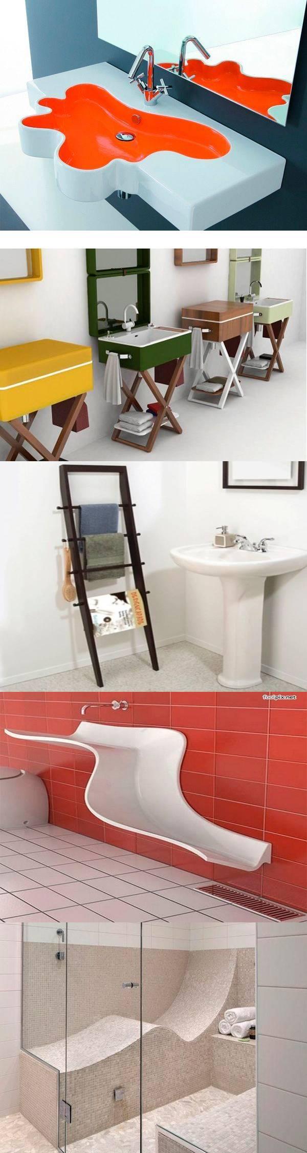 30 необычных идей для ванных комнат