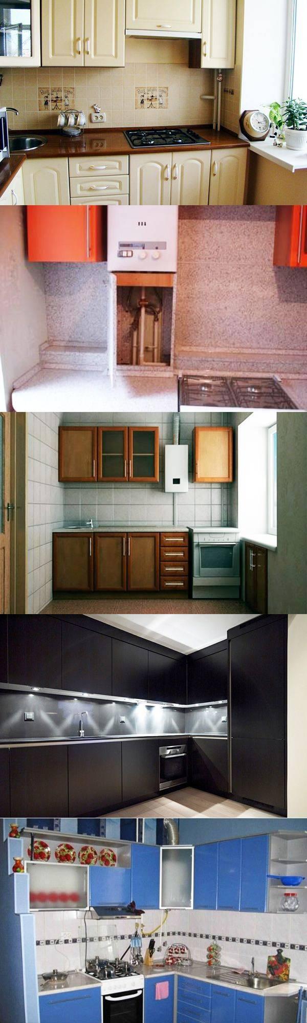 Дизайн кухонь с газовыми колонками