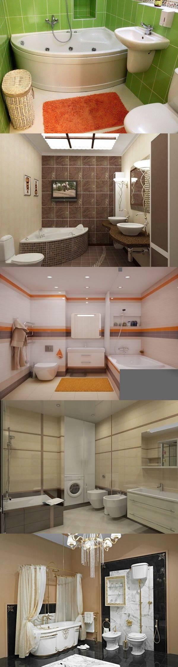 Интерьер совмещенной ванной — 26 идей