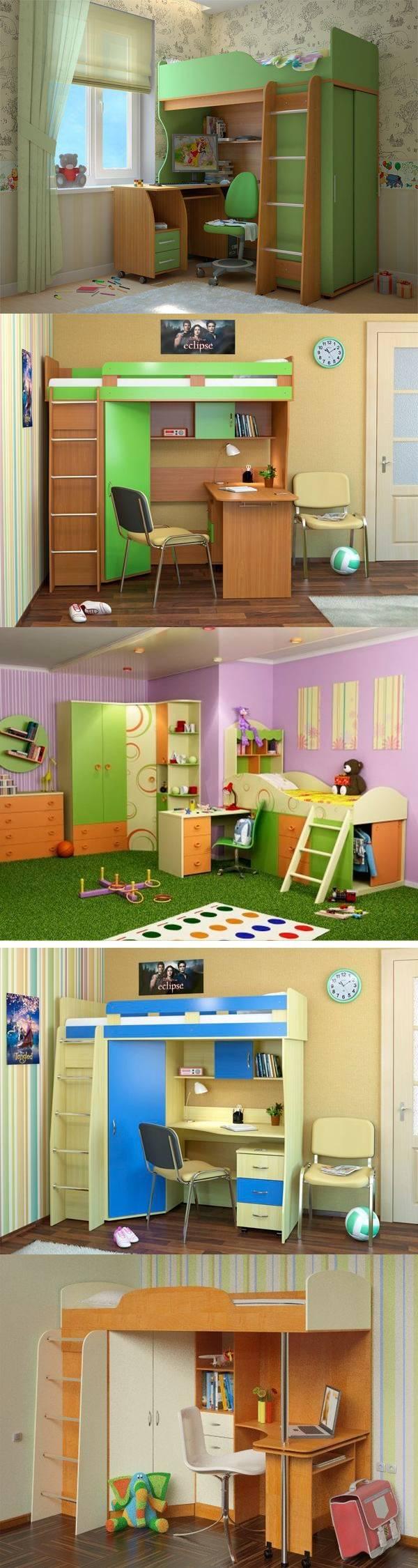 Кровать-чердак в интерьере детской — 28 идей