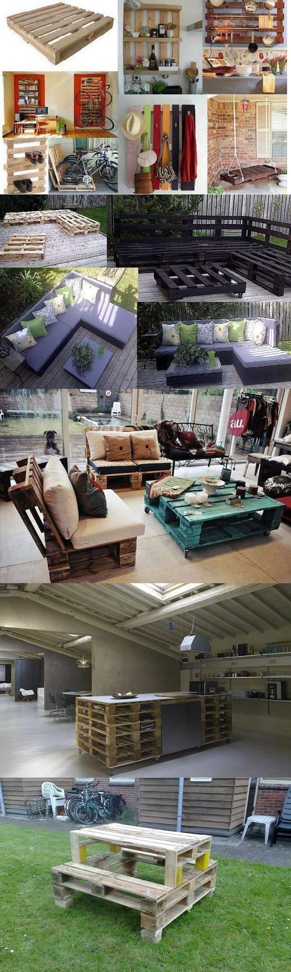 Мебель из поддонов - 17 креативных идей