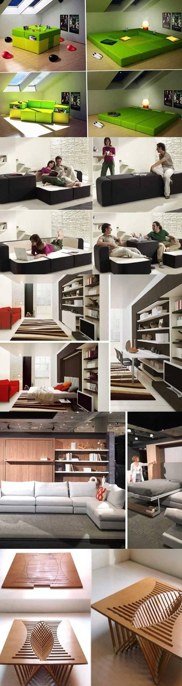 Мебель-трансформер в интерьере — 25 идей