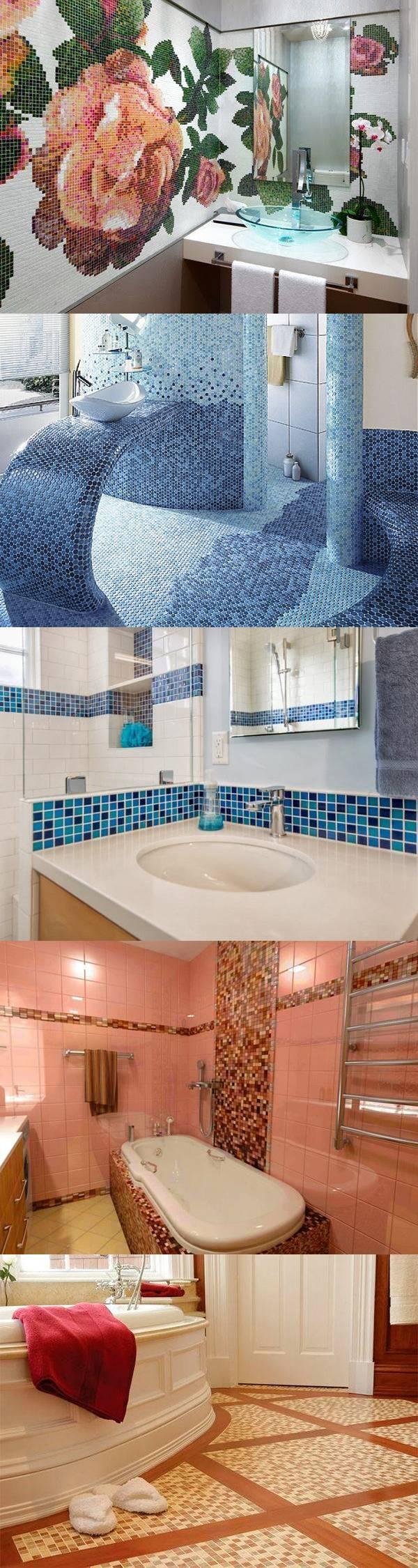 Мозаика в интерьере ванной комнаты — 27 идей