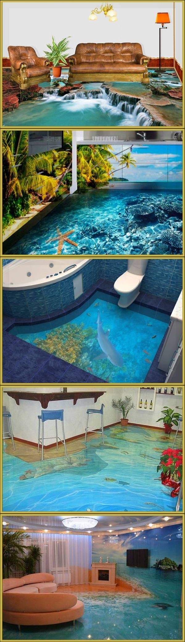 Наливные полы 3d фото. 26 идей