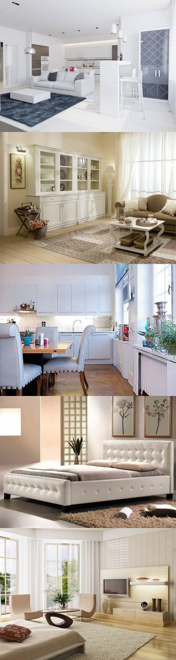 Светлая мебель в интерьере — 26 идей