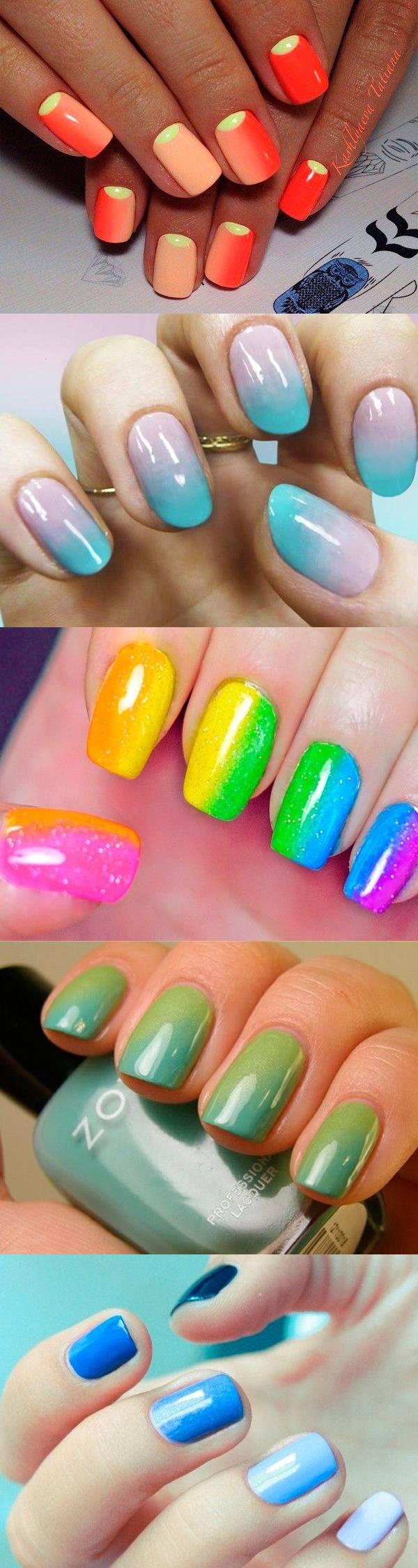 Как накрасить ногти двумя цветами. Как правильно подобрать 10