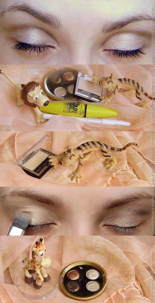 """Техника """"банан"""" в дневном макияже"""