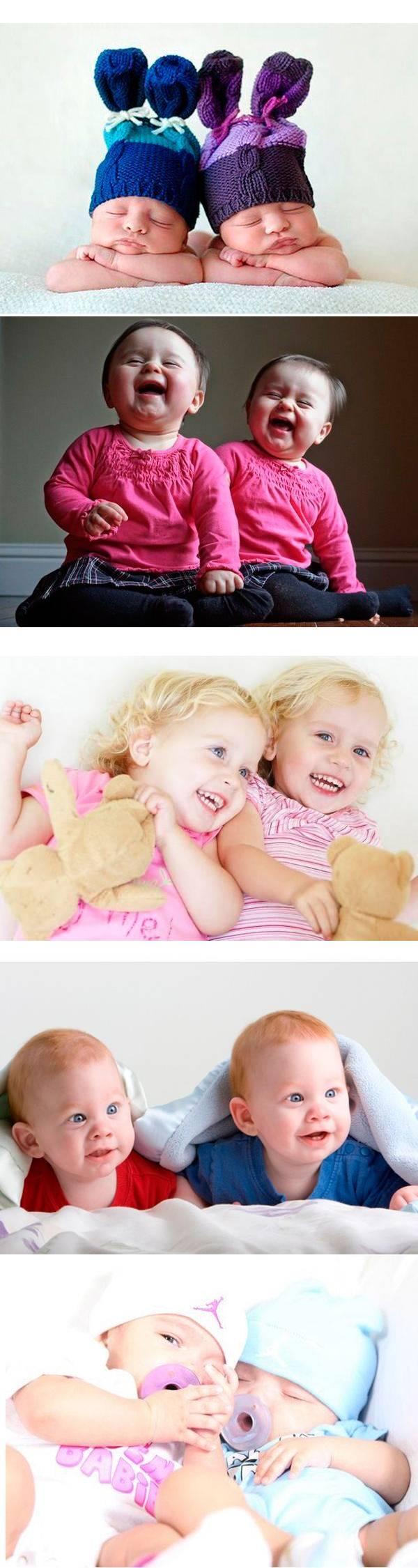 Забавные близнецы — 36 фото