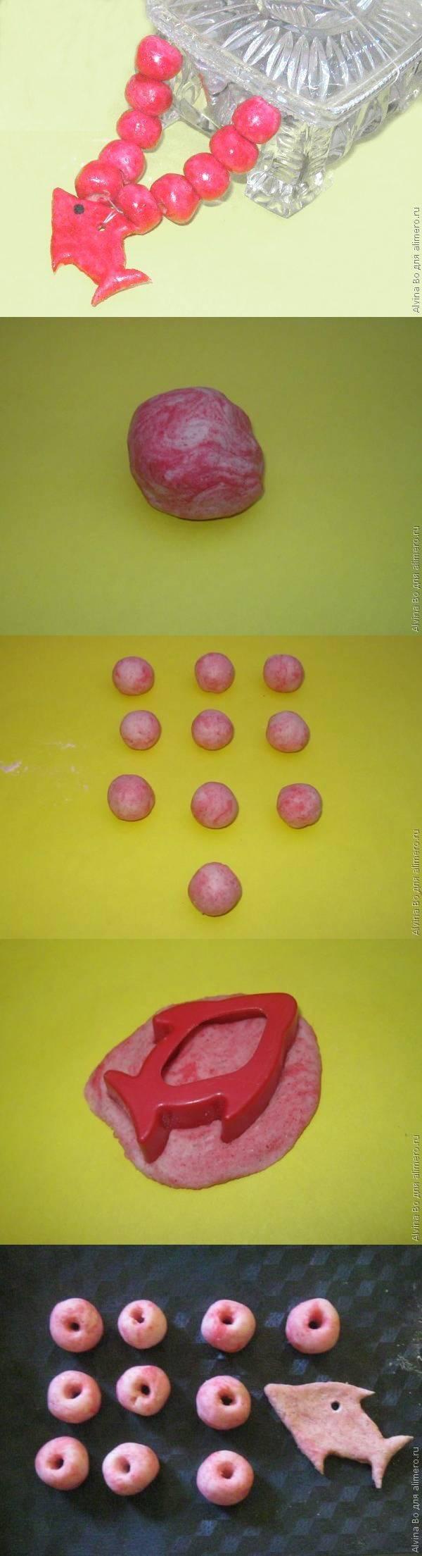 Детские бусы из соленого теста. Мастер-класс