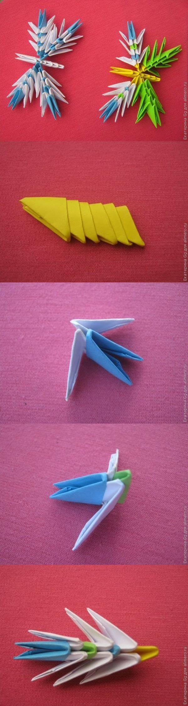 МК для начинающих «Мини-бабочки». Техника оригами