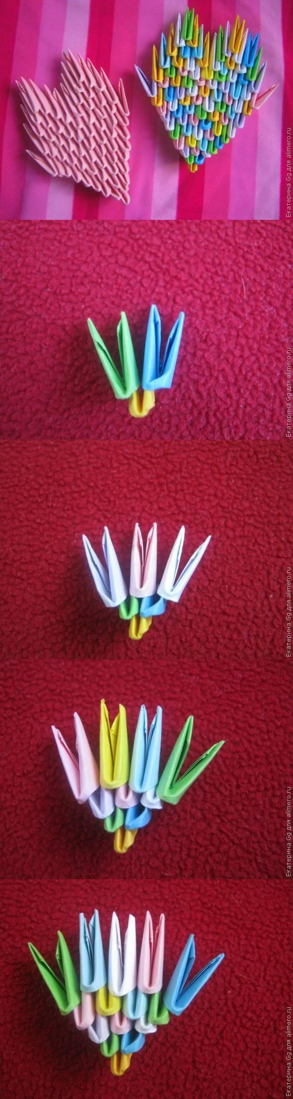 """Оригами """"Валентинки"""""""