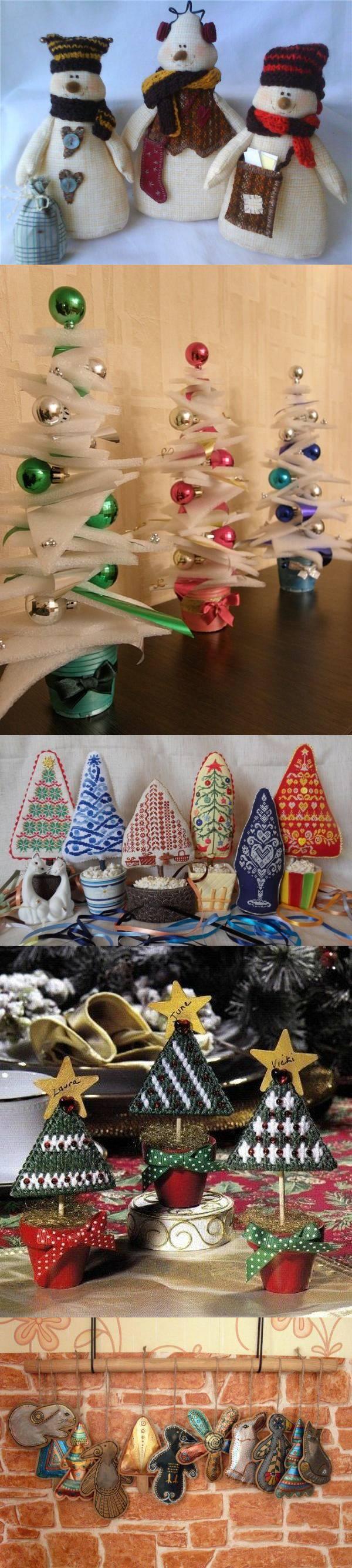 Подборка идей. Новогодние игрушки своими руками (часть вторая)