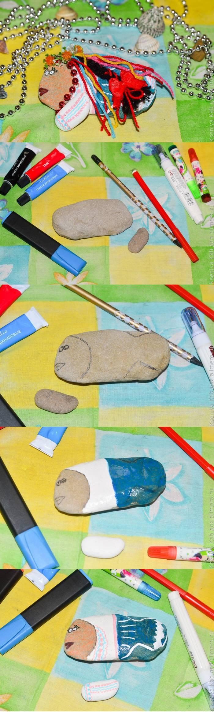 Поделка из камней - рыбка