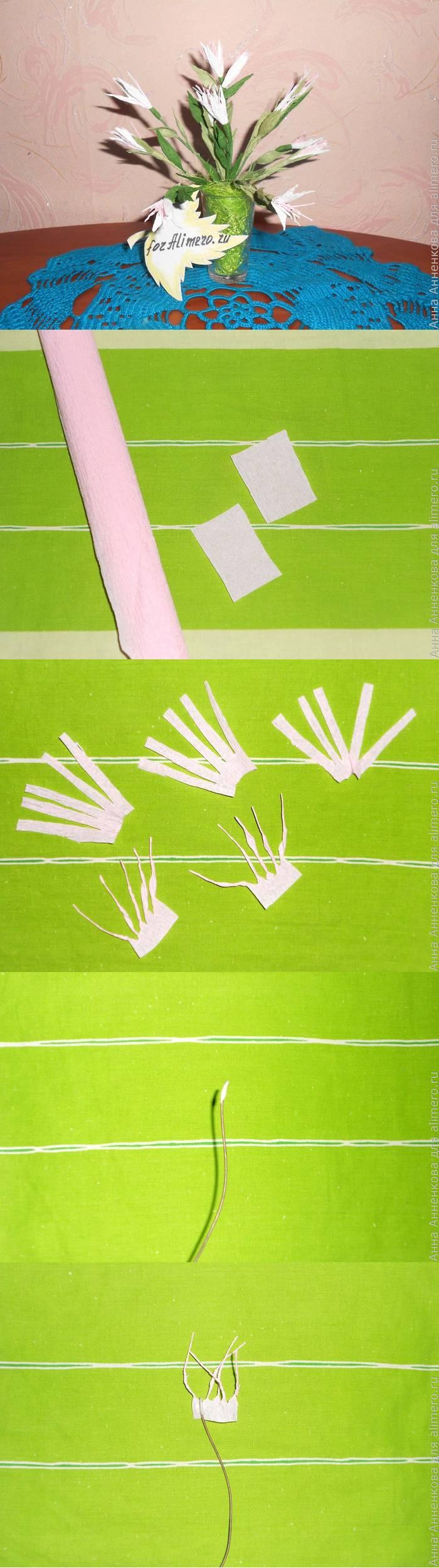 Цветы из гофрированной бумаги. Мастер-класс
