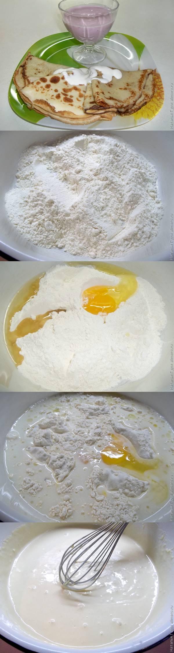Блины ажурные рецепт пошаговые