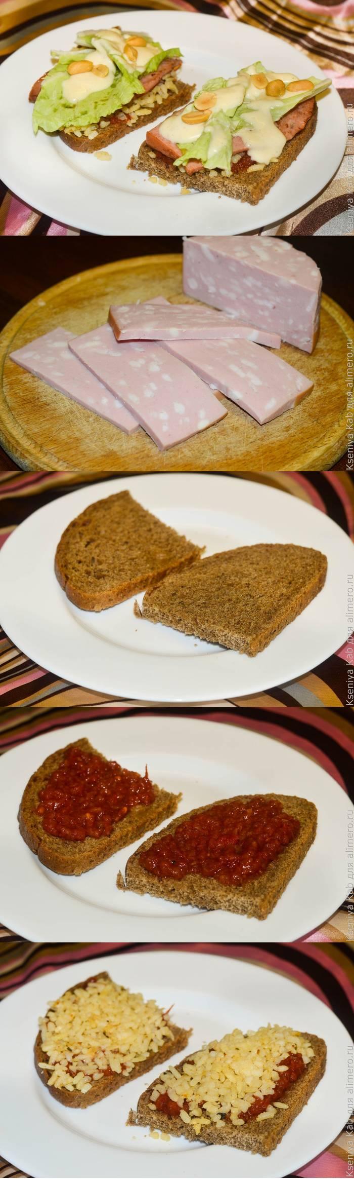 Бутерброд с колбасой - вариант полезного завтрака