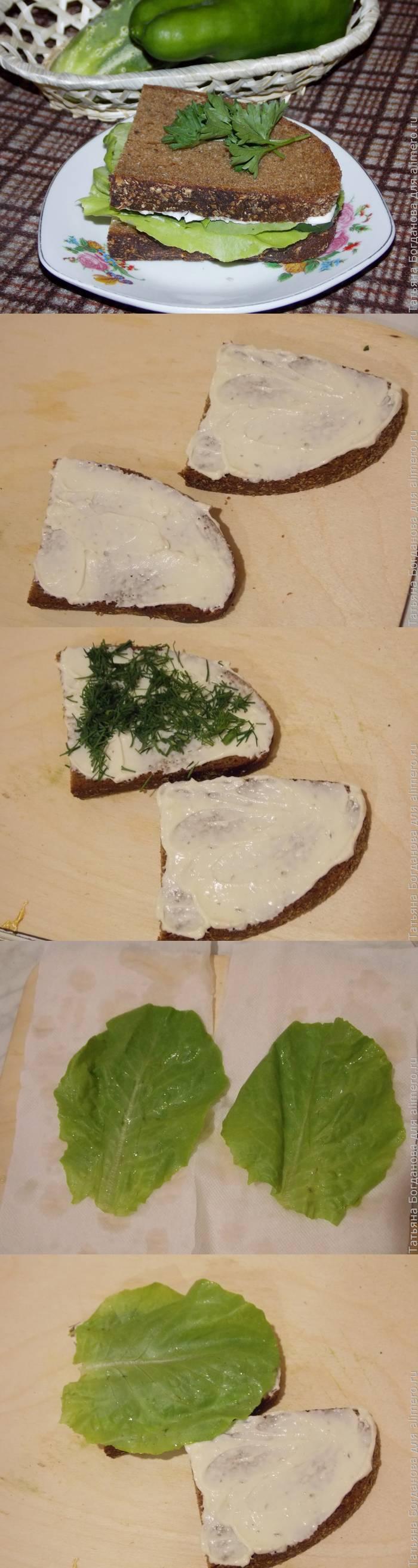 Бутерброд со свежим огурцом