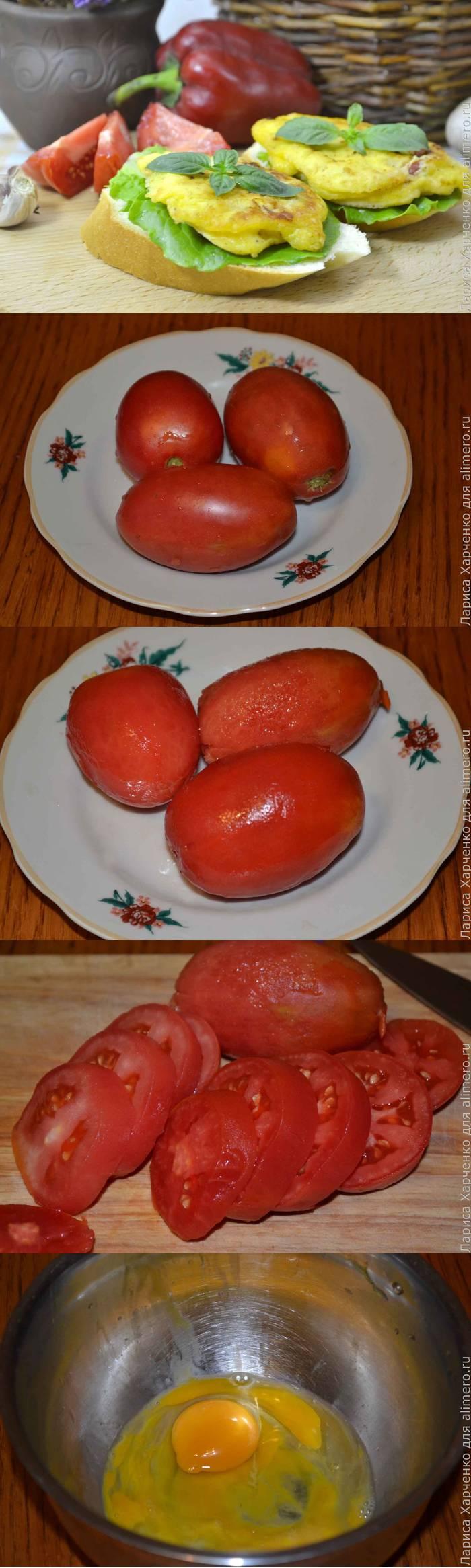 Горячие бутерброды с помидорами в сырном кляре