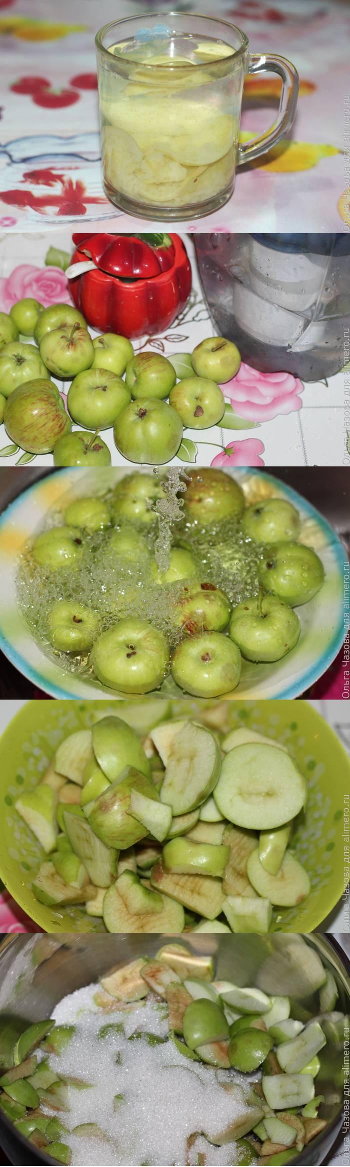 Компот из зеленых яблок