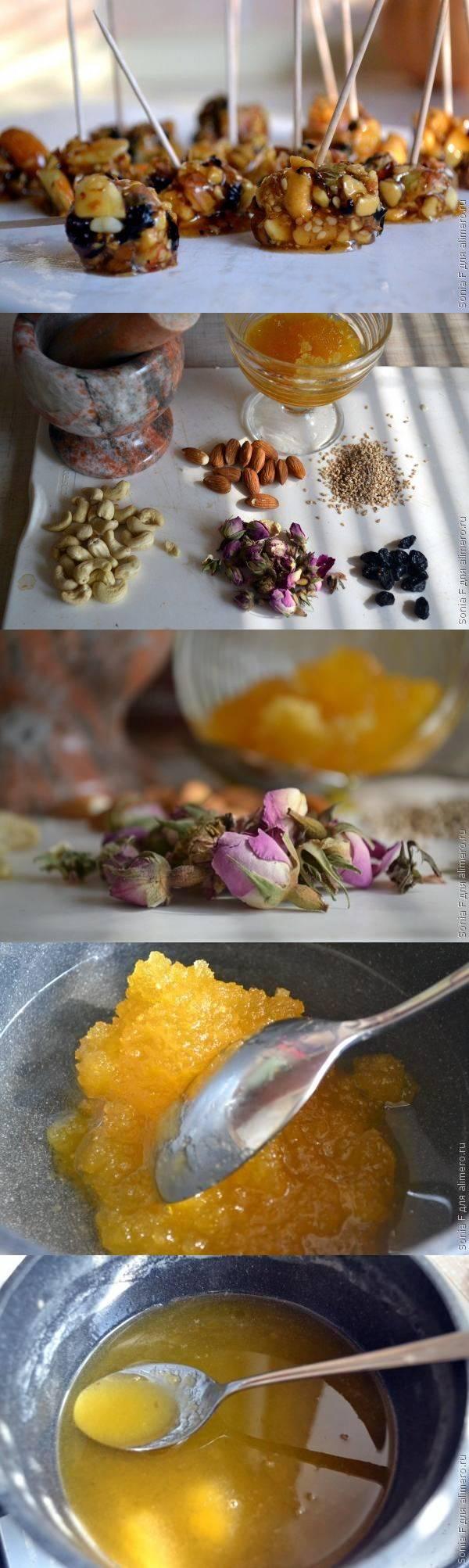 Конфеты домашние из роз и меда