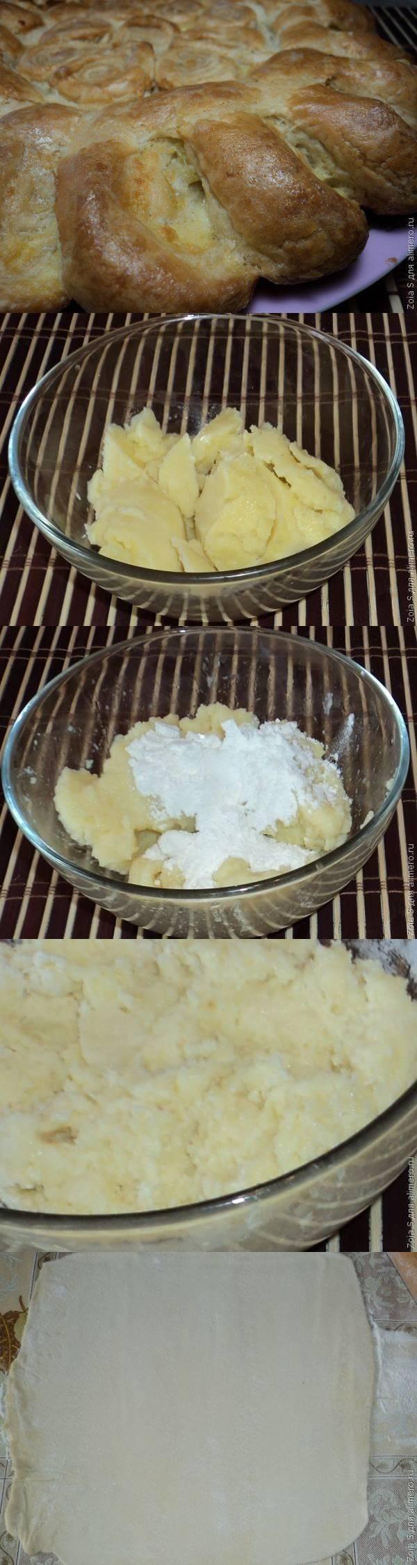 Пирог с картошкой «Цветочек»