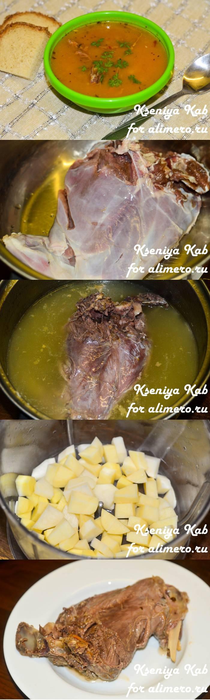 Приготовление дичи - суп с зайчатиной