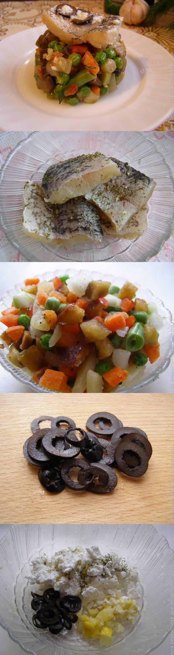 Рыба с овощами в оригинальном соусе