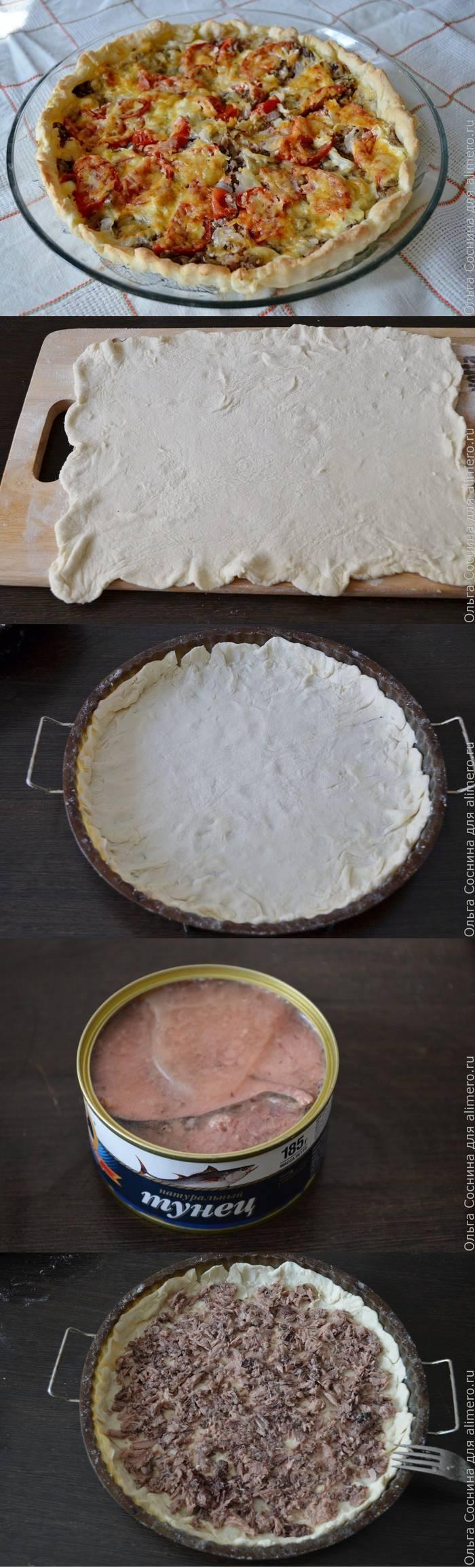 Рыбная пицца из консервированного тунца
