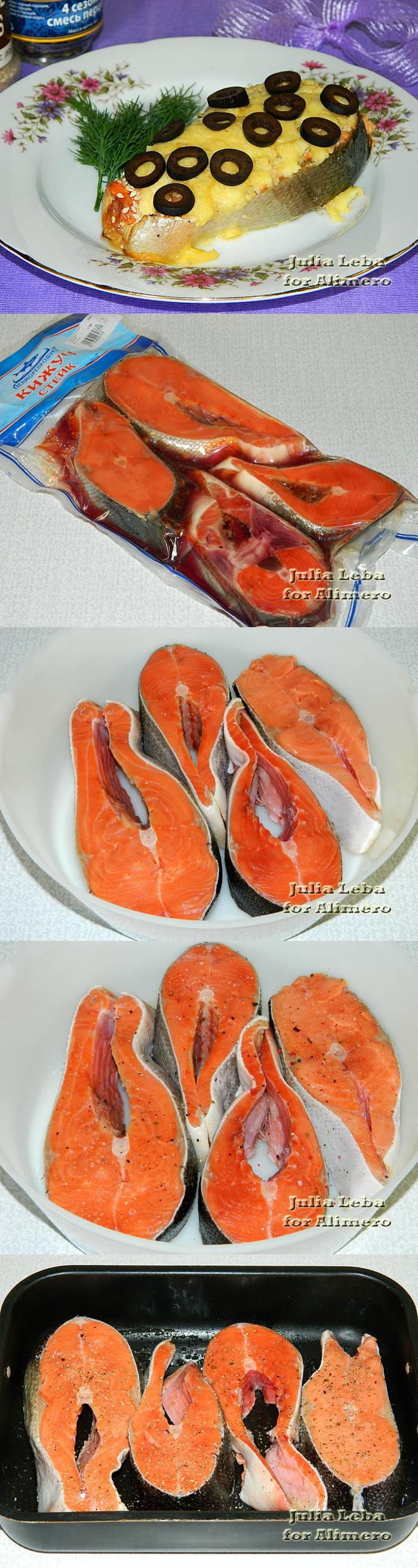 Рыбные стейки под сырной корочкой