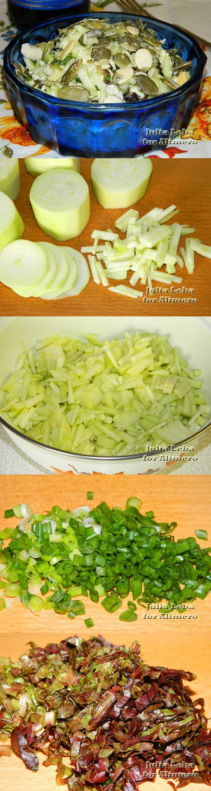 Салат из кабачков и сыра