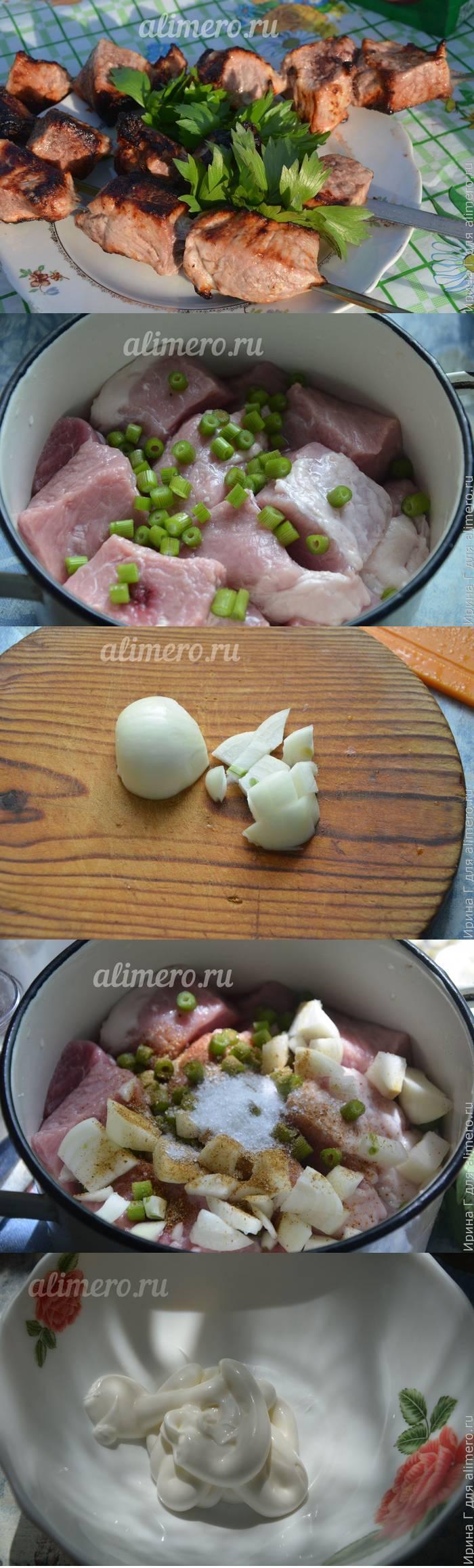Шашлык из свинины в кефире и майонезе