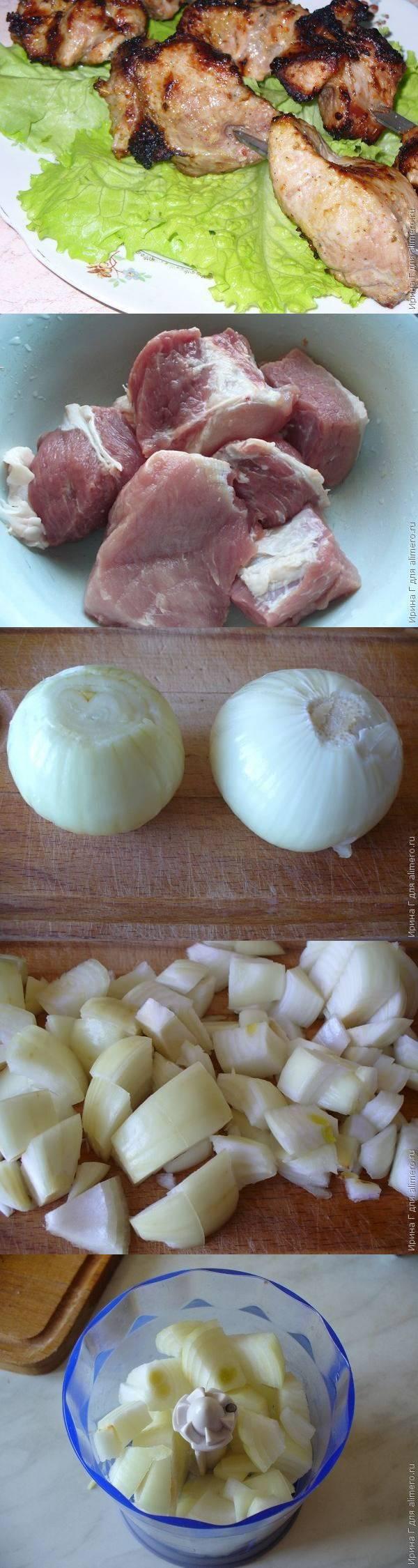 Шашлык из свинины в луково-кефирном маринаде