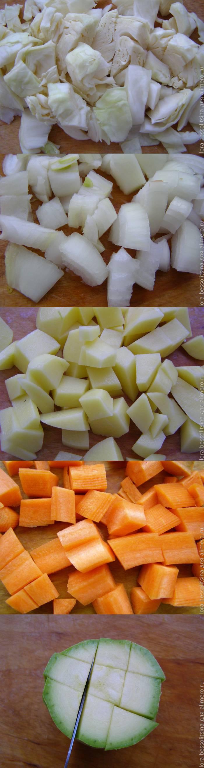 Сочное овощное рагу в мультиварке